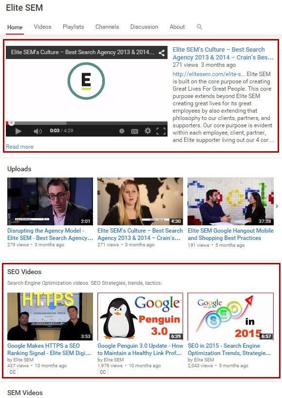 تهبئة الصفحة الرئيسية لقناة اليوتيوب Youtube