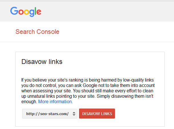 Disavow Links جدول التنصل من الروابط الخلفية